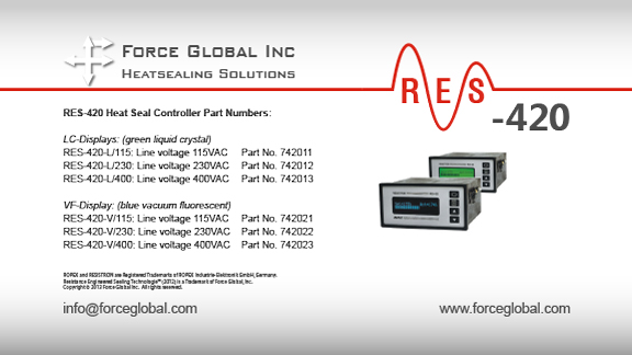 Force Global Ropex RES-420 Heatsealing Solutions
