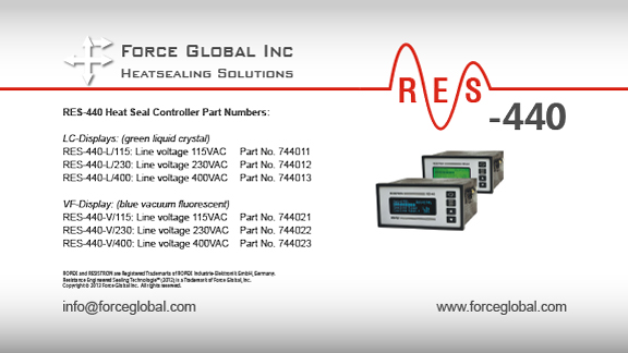 Force Global Ropex RES-440 Heatsealing Solutions