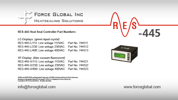 Force Global Ropex RES-445 Heatsealing Solutions